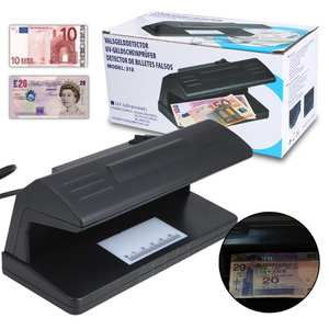 Money-Detector Fake-Polymer-Bank Bill Checke Forged Counterfeit Note EU Ultraviolet