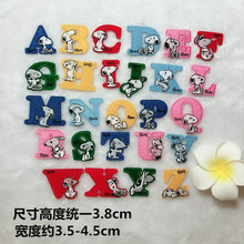 100Pcs/lot Embroidery Patches Letter Cartoon Kids Iron Transfers for Clothing Decoration Applique Sewing Accessories Wholesale