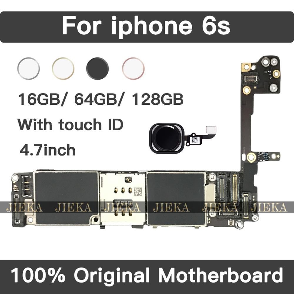 Logic Board for <font><b>iphone</b></font> <font><b>6s</b></font> Motherboard with Touch ID For iphone6S Original <font><b>unlocked</b></font> Mainboard With Chips <font><b>16GB</b></font> 64GB 128GB 4.7 inch image