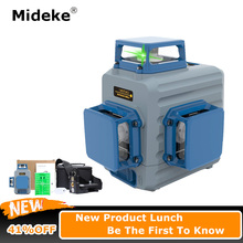 MIDEKE BOX360 Laser Level 360 12 Lines 3D Green beams Horizontal and Vertical line Self-leveling with Pulse Modes