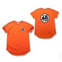 Summer Newest Men Cool Goku T Shirt Dragon Balls Tops Man Custom Printed Short Sleeve Tees Anime High Street Cotton T Shirt