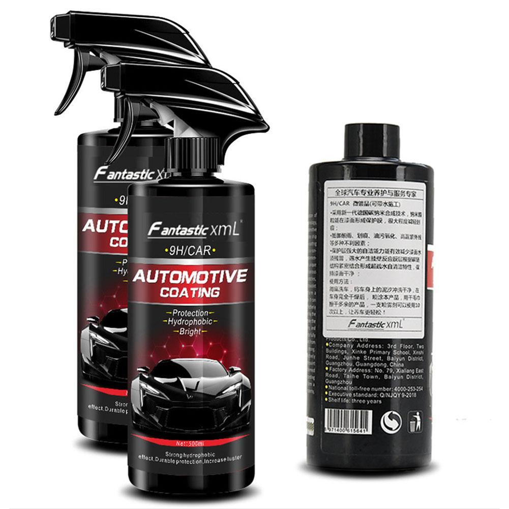 Ceramic Spray Coating Car Polish Spray Sealant Top Coat Quick Nano-Coating 500ML Quick Coat Ceramic Waterless Wash Shine Protect