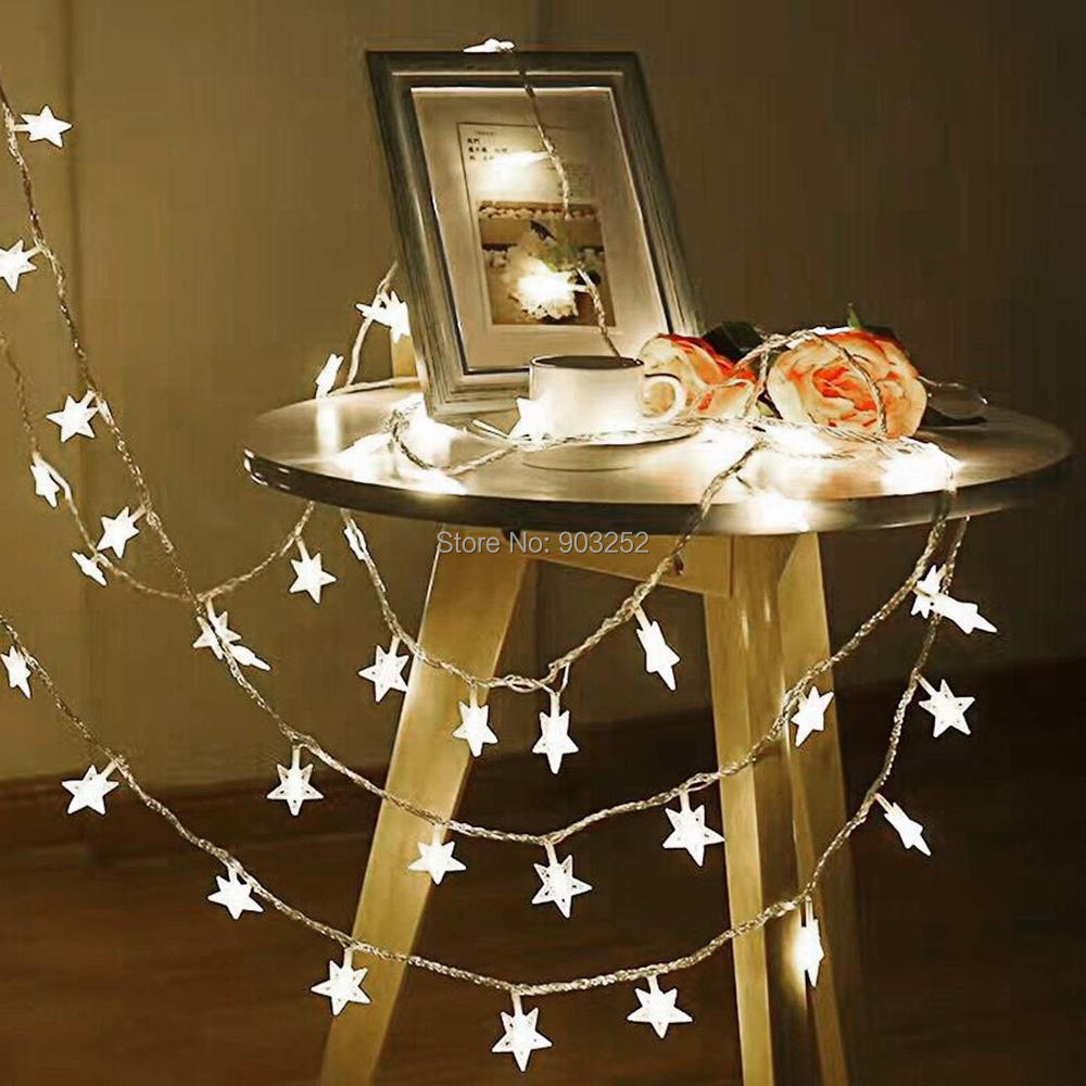 Москитная сетка Звездные гирлянды, работающие от батареек, с 50 светодиодный для спальни, занавески для свадьбы, дня рождения, праздничные комнаты, теплый белый