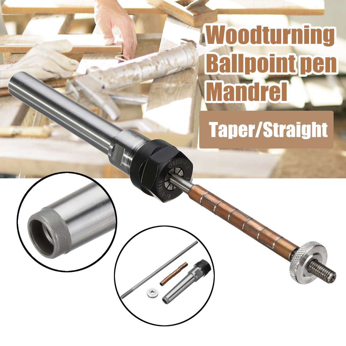 Rotarys Top Lathe Machine Revolving Centre Wood turning Ballpoint pen Mandrel Taper/Straight ShankRotarys Top Lathe Machine Revolving Centre Wood turning Ballpoint pen Mandrel Taper/Straight Shank