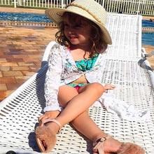PUDCOCO Fashion Kids Baby Girls Lace Floral Sunscreen Rashguard Dress Clothes Outerwear