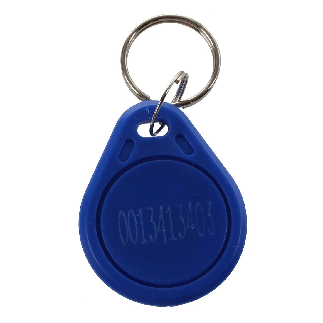 5 Pieces Blue EM4100 125KHz Input Access Control RFID ID Card Label Key Holder