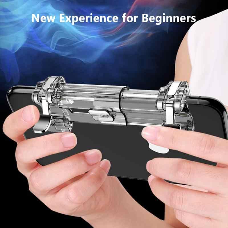 Новый K8 четыре пальца телескопическая Playerunknown's боя игровой контроллер быстрой стрельбы двухпозиционная Кнопка вспомогательный игровой джойстик
