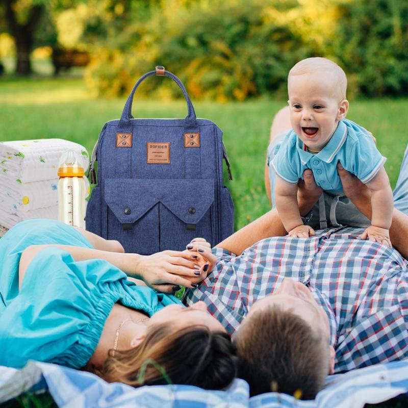 Maternity Diaper Nappy Bag Pure Large Capacity Travel Stroller Hanging Bag Waterproof Handbag Mummy Nursing Backpacks Baby Care