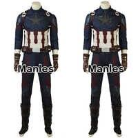 7fc894e4b29 В наличии Капитан Америка Стива Роджерс косплей костюм Мстители  Бесконечность войны взрослых мужчин флэш доставка полный