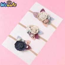 Wecute Baby Headband Fashion Florals Newborn Elastic Princess Hairbands Child Kids Cute Headwear Gifts Turban
