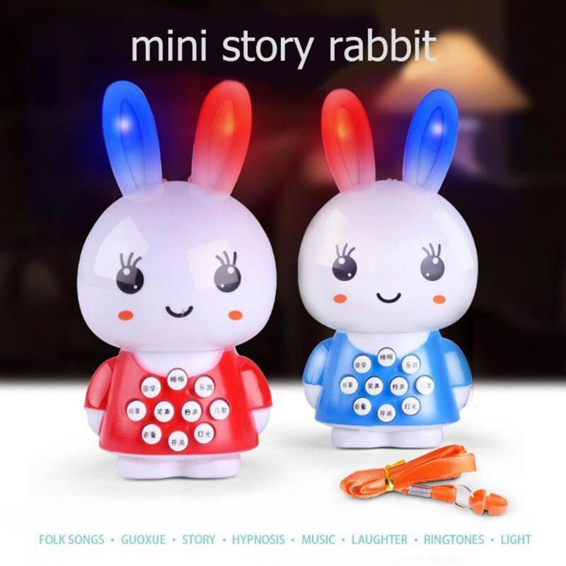Easter Toy Mini Plastic Electric Cute Rabbit Story Machine Toy Easter Rabbit Music Doll Intelligent Learning Tool