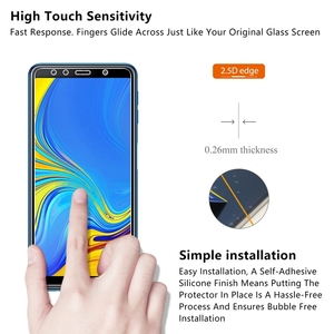 Image 4 - 9H Tempered Glass For Samsung Galaxy A7 2018 Screen Protector protective film For Samsung Galaxy A7 2018 2.5d protection glas