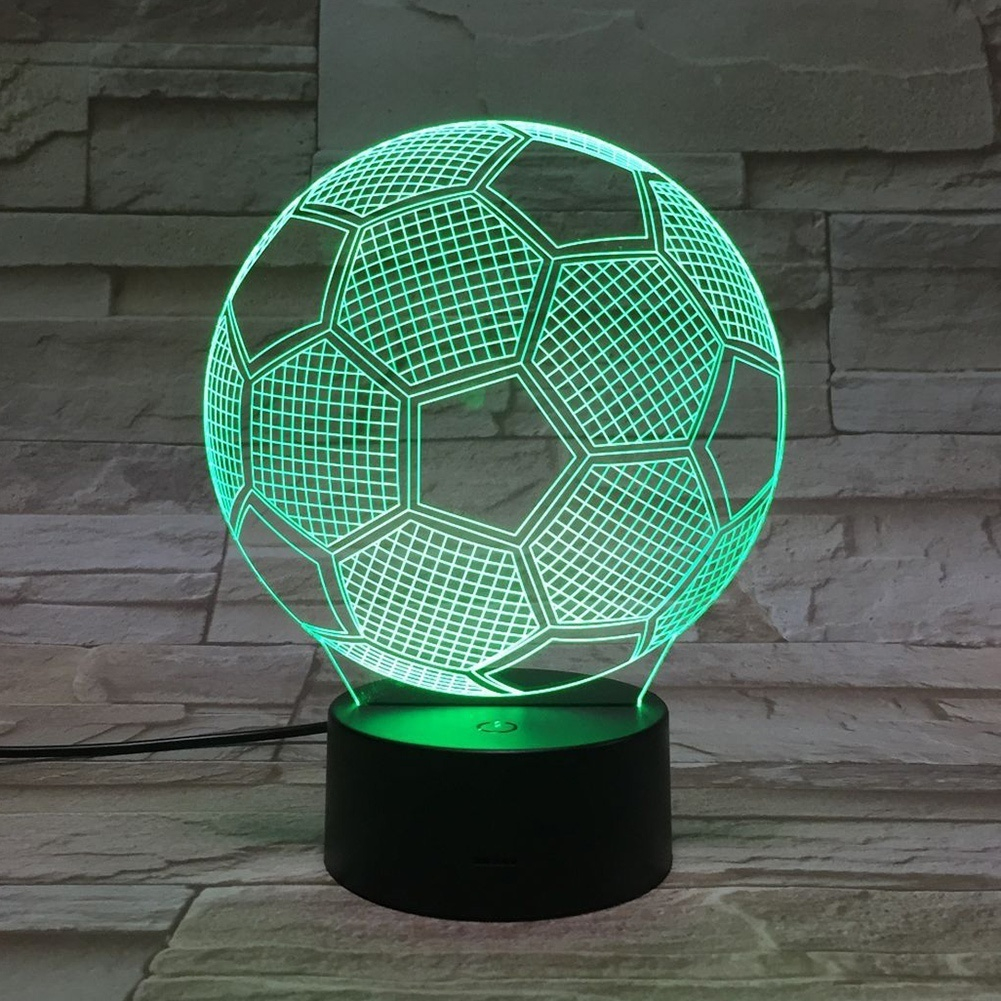 3D Visual Soccer Night Lamp Touch Sensor USB LED Football Shaped Night Light For Home Decor3D Visual Soccer Night Lamp Touch Sensor USB LED Football Shaped Night Light For Home Decor