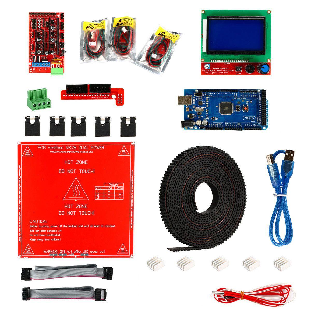 Kit imprimante 3D, rampes 1.4 + Mega 2560 + MK2B Heatbed + contrôleur I3 Suit 12864