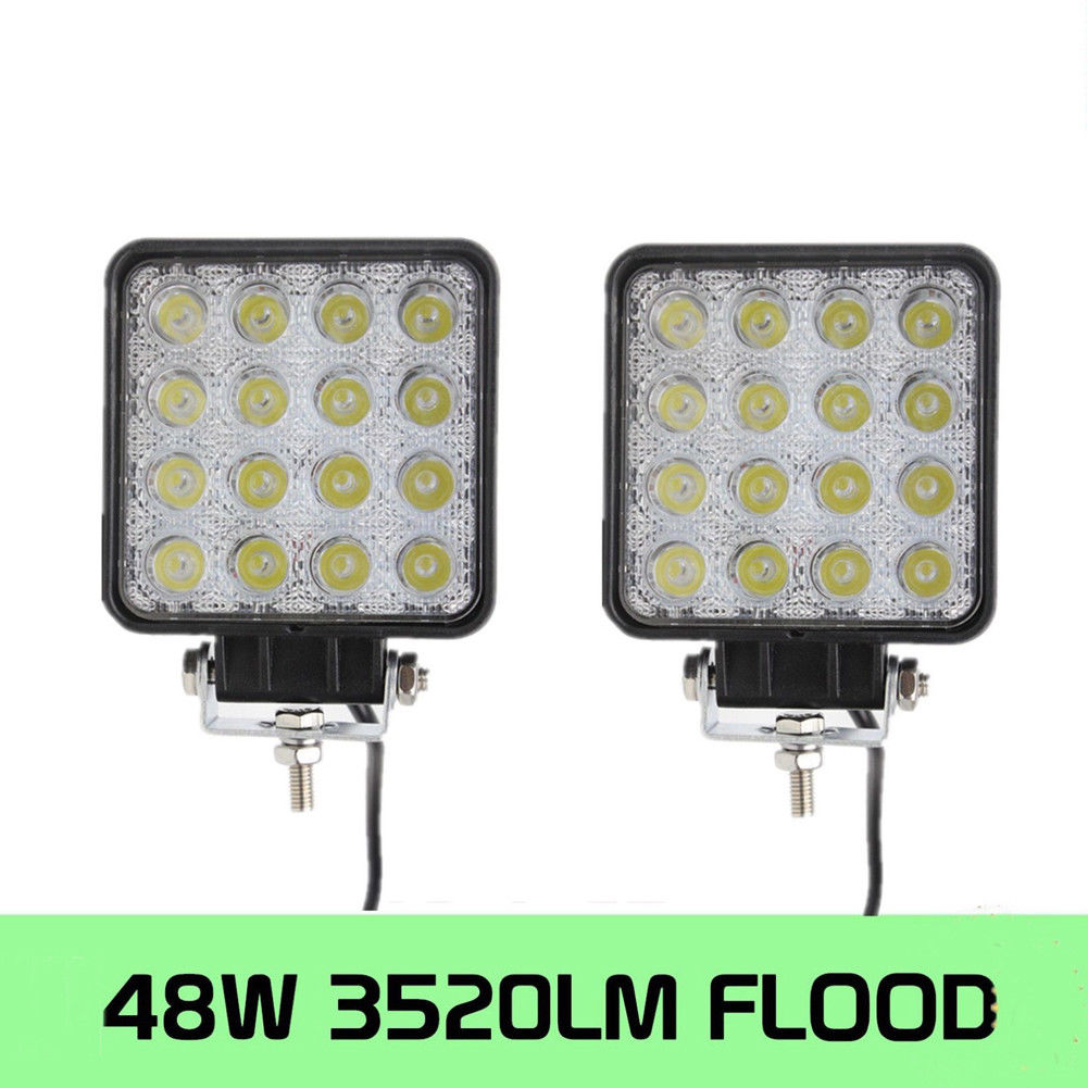 Square 48W <font><b>16</b></font> <font><b>LED</b></font> <font><b>Work</b></font> <font><b>Light</b></font> Off Road Spot Beam Fog Lamp For Car Truck A image