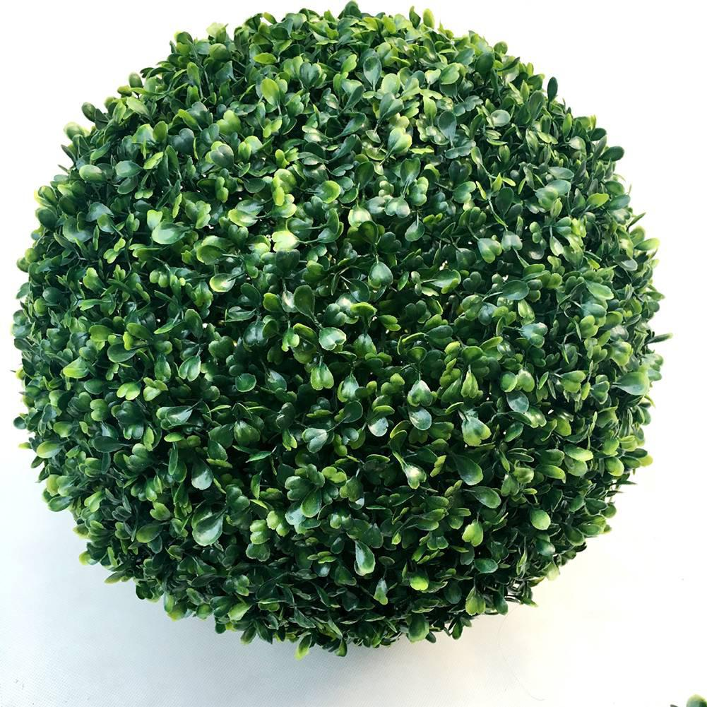 Image 2 - Simulate Plastic Green Leave Ball Artificial Grass Ball Home Garden Wedding Party Decoration-in Artificial & Dried Flowers from Home & Garden