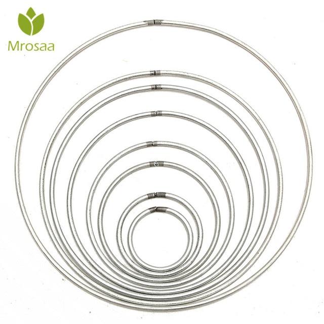 Mrosaa 1Pcs Metal Dream catcher Round Hoop Ring For DIY Manual Handmade Wicker Crafts Dreamcatcher Tool Material Accessories