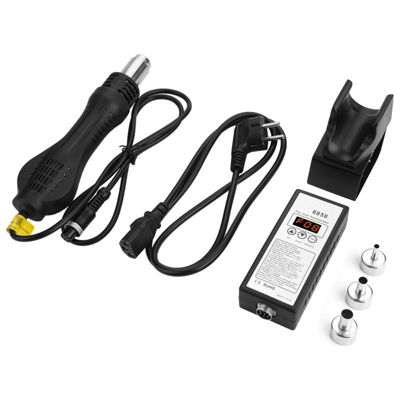New 8858 Rework Soldering Station 50 60Hz Intelligent LED Digital New Air Gun Heat Gun with