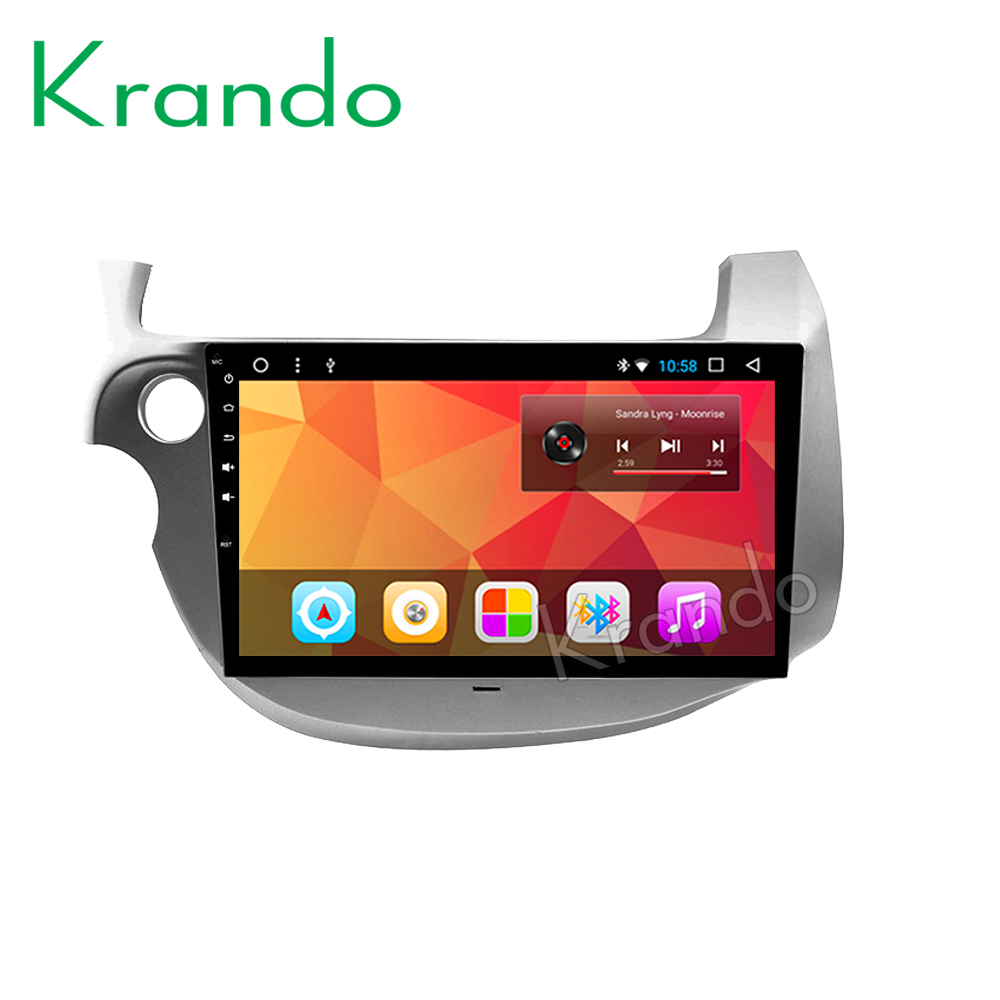"Krando Android 8.1 10.1"" IPS Full touch screen for Honda Fit Jazz 2009-2013 car Multimedia system audio player gps navigation"