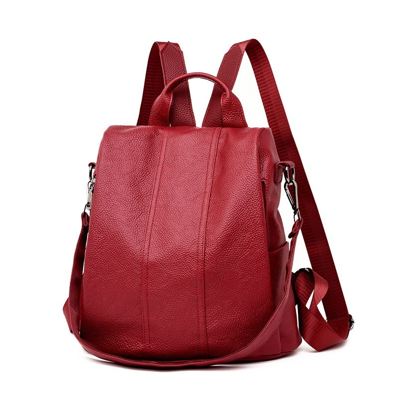 2019 Women Leather Backpacks High Quality Mochilas Vintage Bagpack Ladies Travel  Female Backpack School Rucksacks For Girls
