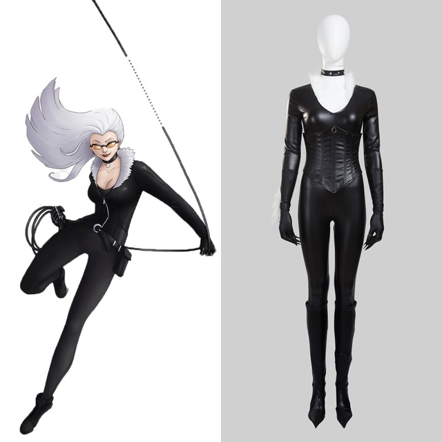 7d4cb852c71 Spider Man Felicia Hardy Black Cat Cosplay Costume Halloween Outfit ...