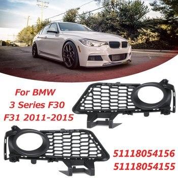 51118054156 51118054155 Cặp Màu Đen Phía Trước Bội Thu Sương Mù Ánh Sáng Lưới Lưới Đối Với BMW 3 Series F30 F31 2011 2012 2013 2014 2015