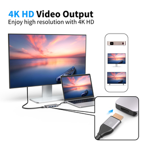 Image 5 - Dodocool 7 في 1 متعددة الوظائف USB C محور مع 4K HD الناتج SD/TF PD شحن 3 منافذ USB 3.0 لماك بوك لماك بوك برو وأكثر من ذلك