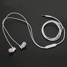 OVEVO S10 Stereo In-Ear Earphone Line Control Mic Noise Cancelling Bass Headset for MP3,Smartphone-White
