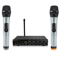ARCHEER Wireless bluetooth Microphone System VHF Dual Chanels Handheld Microphone Systems Mini Portable Singing Mixer Karaoke