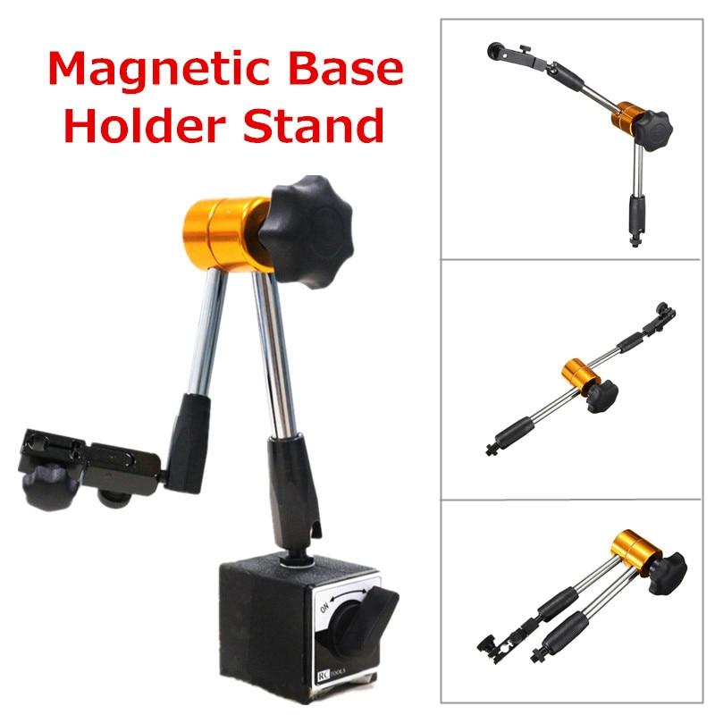 Adjustable Magnetic Base Holder Stand fr Dial Test Gauge Indicator Flexible Tool