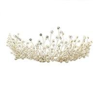 1PC Bridal Crown Headdress Shining Rhinestone Party Generous Wedding Festival Head Hair Decor Band Ornament Hoop