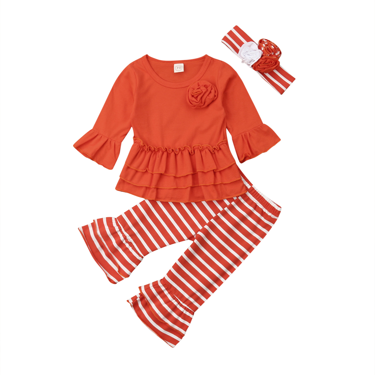 baby girl brand 3PCS pudcoco baby girl cotton striped clothes set baby girl  baby clothes girl clothes