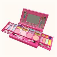 Princess Makeup Set Kids Cosmetic Girls Kit Eyeshadow Lip Gloss Blushes Tools Portable Beauty Fashion Toys Children Gifts