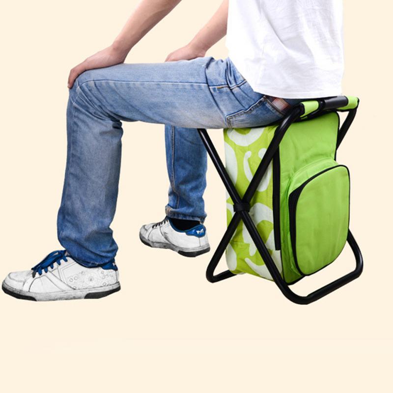 Qualité Portable pliant pêche multi-fonction chaises Camouflage extérieur multi-fonction loisirs voyage grand sac d'escalade