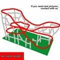 4619 pcs Originaliteit Streetscape Serie Speeltuin Grote Achtbaan Kinderen Alpinia Plastic Bouwsteen Speelgoed 15039