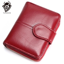 цена на Tauren Women Fashion Red Purse Female Wallet Leather Pu Multifunction Purse Small Money Bag Coin Pocket Wallet Top Quality !