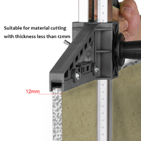 Manual Gypsum Board Cutter Hand Push Drywall Cutting Artifact Tool with Double Blade and 4 Bearings
