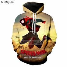 Cool Design Cartoon Spider Man: Into the Verse 3D Printed Jacket Men/women Hiphop Streetwear Hoodie Boys Punk Clothes 5XL