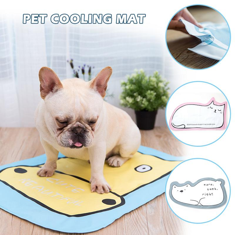 Pet Dog Cooling Mat Cute Foldable Summer Dog Sleeping Bed Cushion Cooling Pad Scratch Resistant Heat Dissipation For Dog Cat