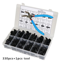 330pcs 12 Sizes Car Auto Body Retainer Push Pin Rivet Clip Mouldings Trim + Tool for G/M, for For/d, for Hon/da, for Toyo/ta