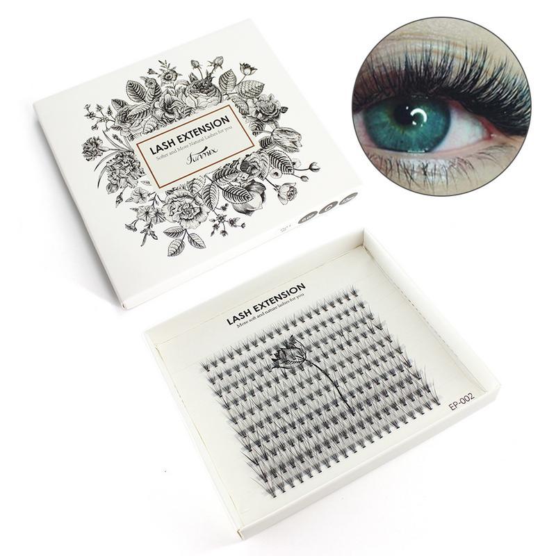 200pcs/Box New False Eyelashes Professional Natural Long Curl Eye Lashes Beauty Makeup Women Lady Grafted Eyelashes