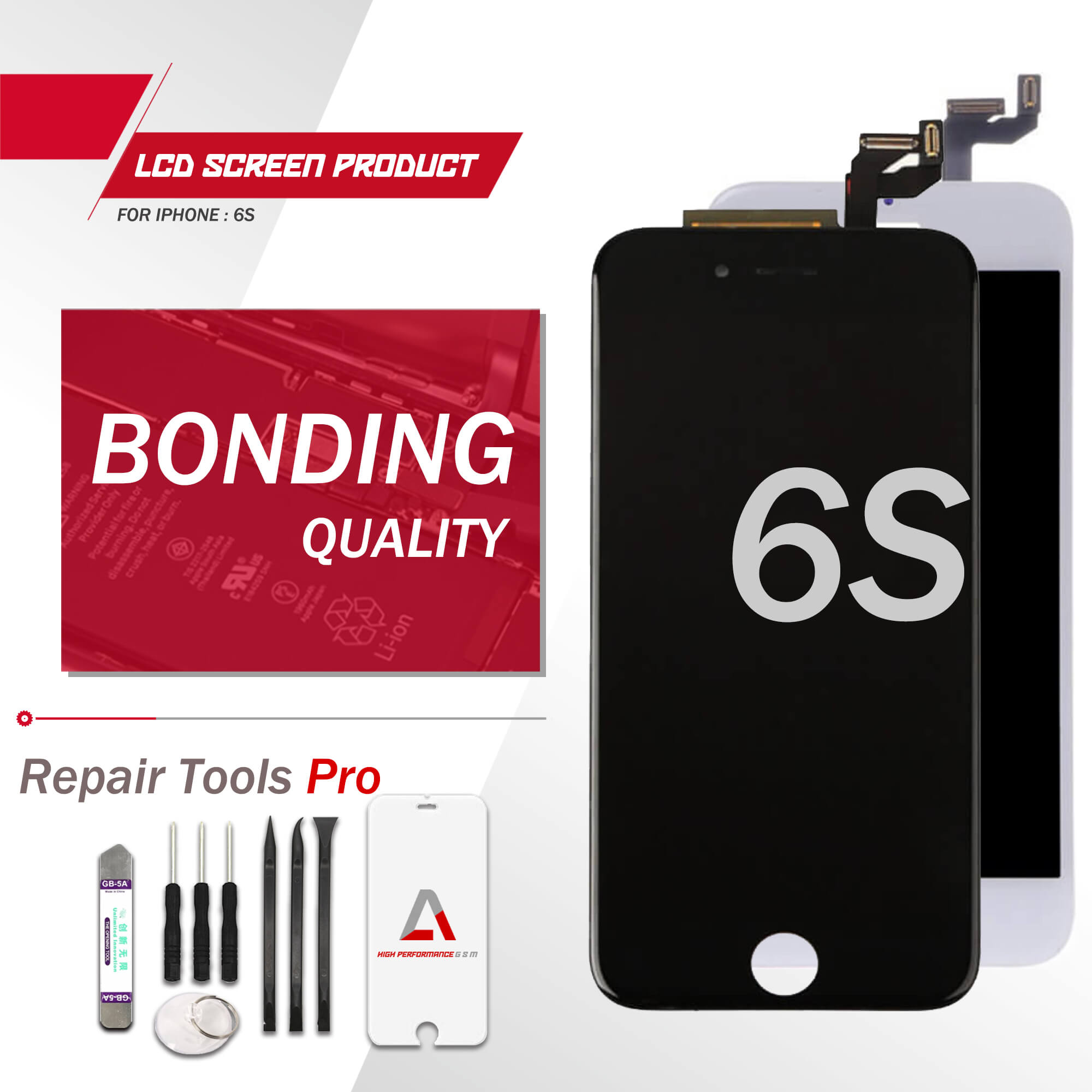 For iPhone 6s LCD Screen Display Replacement Digitizer Grade OEM Bonding Quality 1PCS AMOGSM