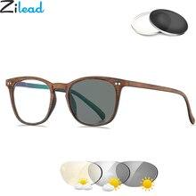 Zilead, имитация дерева, солнечные фотохромные очки для чтения, для женщин и мужчин, прозрачные очки для дальнозоркости, Wth, диоптрия, унисекс+ 6,0