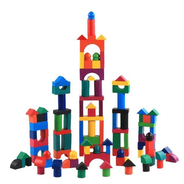 112pcs/Set Colorful Wooden Blocks Adult Kids Jigsaw Domino Games Sort Montessori Educational Creativity Toys For Children Gift
