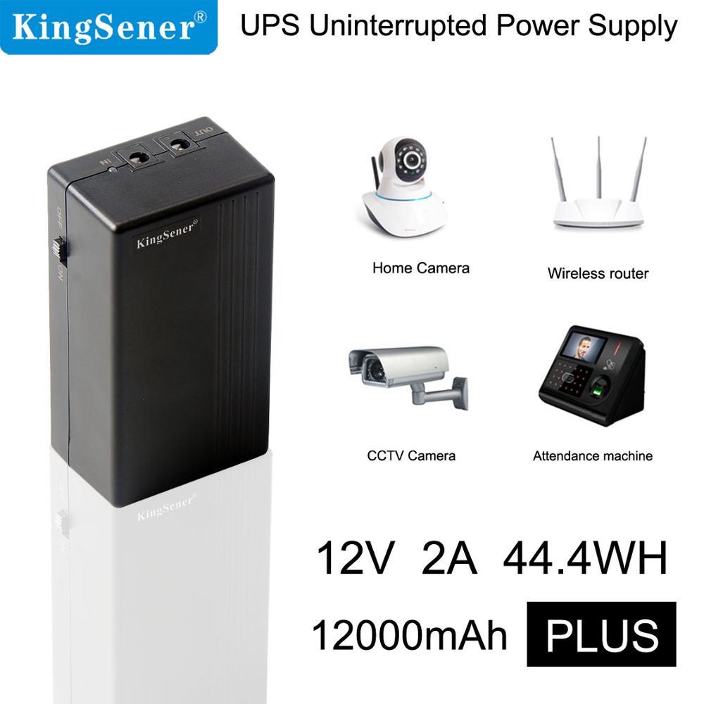 Kingsener 12 V 2A 44.4 W UPS alimentation sans interruption système d'alarme caméra de sécurité routeur dédié alimentation de secours