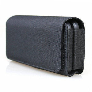 Image 5 - Dual Phone Holster for Two Phones Nylon Double Decker Belt Clip Pouch Case for 2 iPhone Xs Max Samsung Note 9 Huawei Mate 20