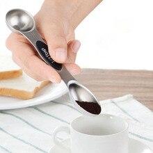 5 шт. 6 шт. двухсторонний комплект мерных ложек Магнитная мерная чашка из нержавеющей стали кухонные измерительные весы инструмент