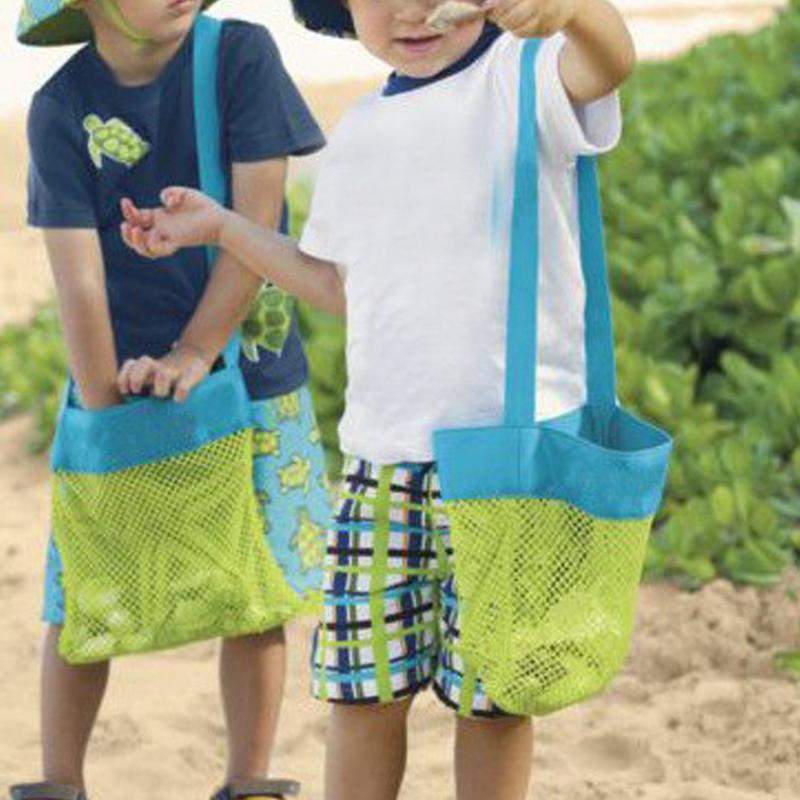 Storage Bags Home Storage & Organization 1pc Portable Traveling Beach Tote Pouch Mesh Bag Kids Children Fun Toys Sea Shell Storage Shoulder Bag Kids Toys Storage