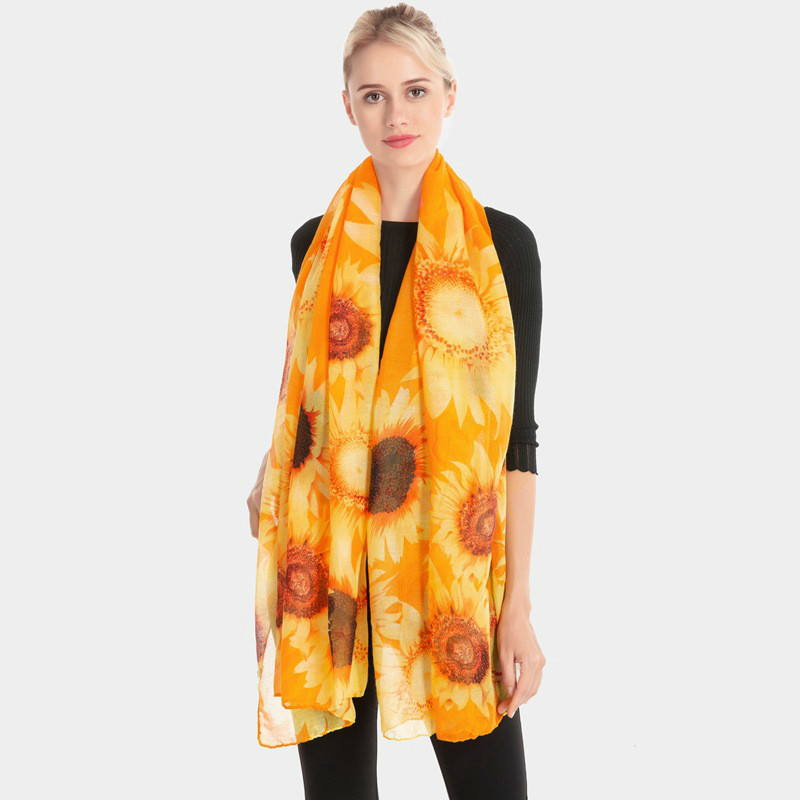 Women's Clothing Original Women Pullover Square V-neck Swimsuit Cover Up Bohemian Rainbow Large Sunflower Printed Chiffon Cape Shawl Oversized Loose Kimon