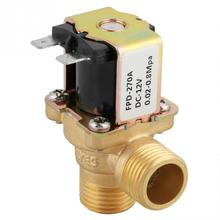 Sıcak DC 12V DN15 G1/2 pirinç elektrik Solenoid vana normalde kapalı su giriş anahtarı ile filtre